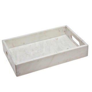 Godinger White Marble Rectangular Tray