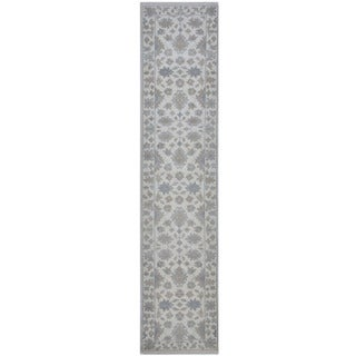 Herat Oriental Indo Hand-knotted Tribal Oushak Wool Runner (2'7 x 11'10)