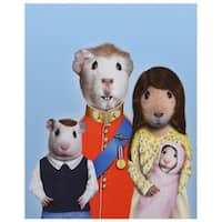 """Empire Art - """"Royal Guinea Pigs"""" High Resolution Giclee Printed on Cotton Canvas"""