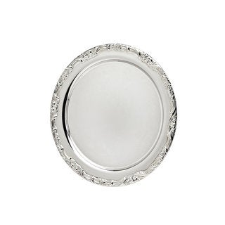 Godinger Silver Metal 16.5-inch Floral Design Round Tray