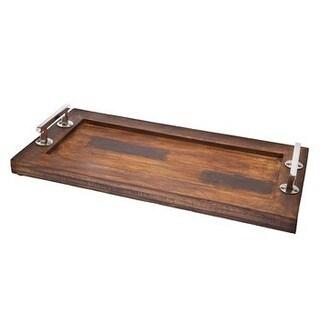 Godinger Rectagular Wooden 24-inch x 12-inch Serving Tray