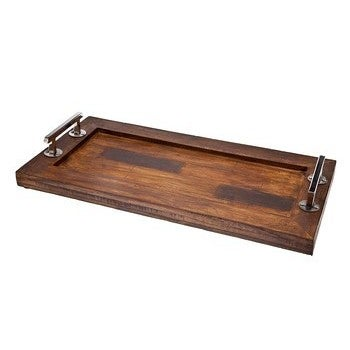 Shop 20 Inch Rectangular Wooden Serving Tray Free