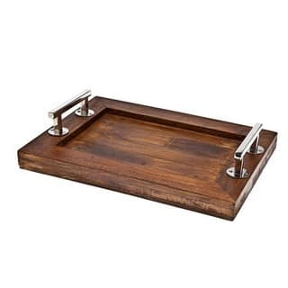 Godinger Brown Wooden 16-inch x 12-inch Serving Tray|https://ak1.ostkcdn.com/images/products/13933194/P20565000.jpg?impolicy=medium