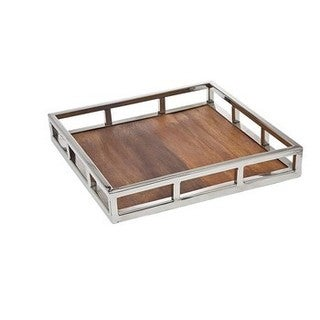 Pillar 14-inch Square Wooden Tray