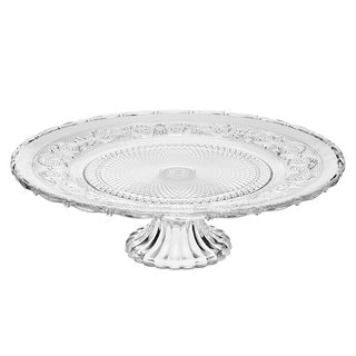 Godinger Renessaince Glass Footed Platter