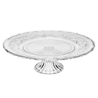 Godinger Renessaince Glass Footed Platter