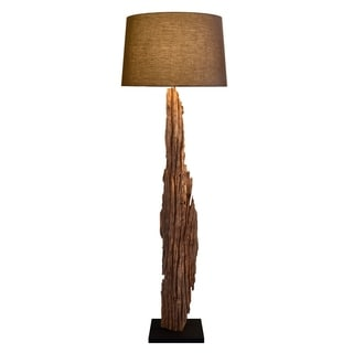 Rousilique Natura Round Driftwood Table Lamp