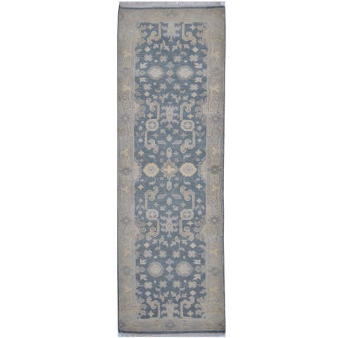 Handmade One-of-a-Kind Oushak Wool Runner (India) - 2'6 x 7'9