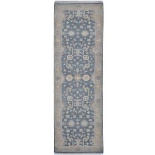 Handmade One-of-a-Kind Oushak Wool Runner (India) - 2'6 x 7'9