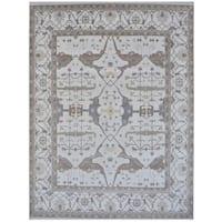 Handmade Herat Oriental Indo Tribal Oushak Wool Rug (India) - 12'3 x 14'9