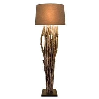 Puricatione Caotico Driftwood Round Table Lamp