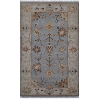 Herat Oriental Indo Hand-knotted Tribal Oushak Wool Rug (3' x 5')