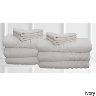 Brentwood 100% Cotton 12-piece Towel Set