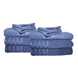 Brentwood 100% Cotton 12-piece Towel Set