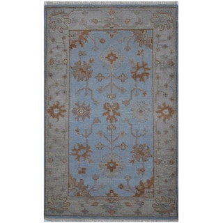 Herat Oriental Indo Hand-knotted Tribal Oushak Wool Rug (3'1 x 5')