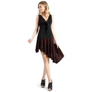 Evanese Women's Casual Asymmetrical Hi Low Contemporary Cocktail Turn Skirt (5 options available)