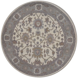 Herat Oriental Indo Hand-knotted Tribal Oushak Wool Round Rug (5'11 x 5'11)