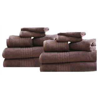 Mosaic II 100% Cotton 12-piece Towel Set