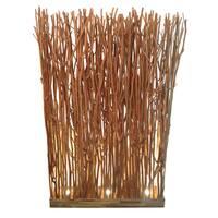 Brown Wood Partition Floor Lamp