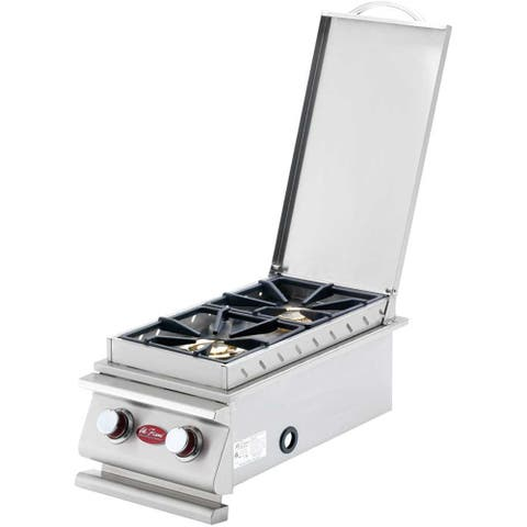 Cal Flame Deluxe Double Side Burner Propane W/Natural Gas Conversion Kit