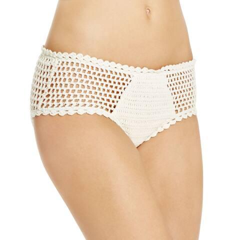 Minkpink Women's Dreamweaver Ivory Crochet Bikini Bottom