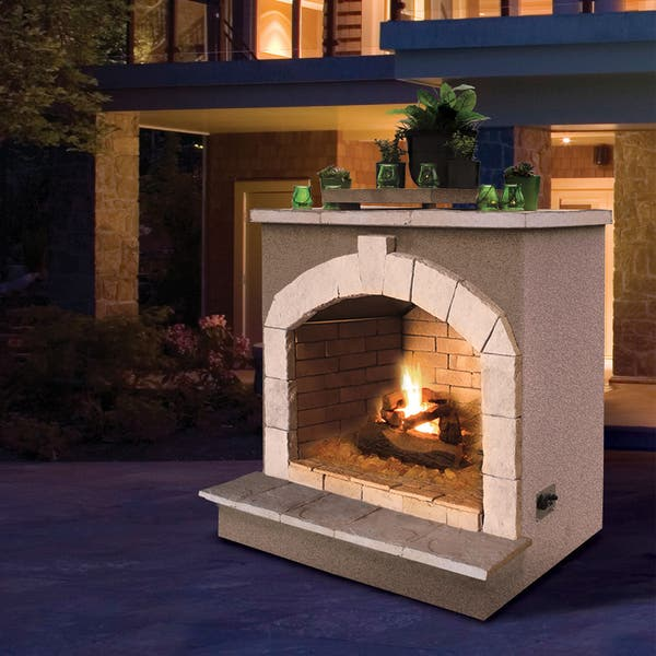48 Inch Propane Gas Outdoor Fireplace Overstock 13933291