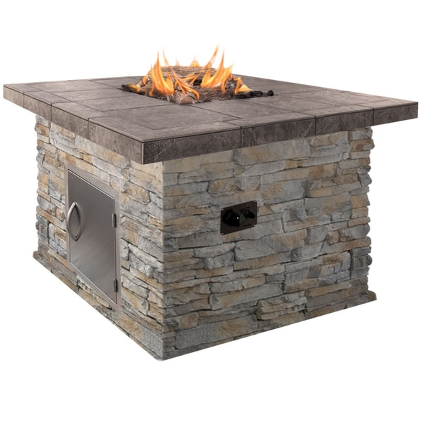48 inch propane gas pit in gray with