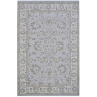Herat Oriental Indo Hand-knotted Tribal Oushak Wool Rug (6'1 x 9'1)