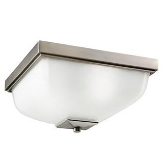 Kichler Lighting Contemporary 2-light Antique Pewter Indoor/Outdoor Flush Mount