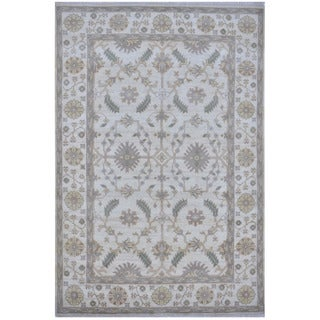 Herat Oriental Indo Hand-knotted Tribal Oushak Wool Rug (6' x 8'11)
