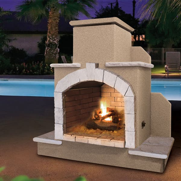 Shop 78 Inch Propane Gas Outdoor Fireplace Overstock 13933307