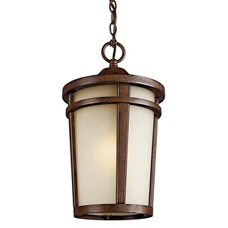 Kichler Lighting Atwood Collection 1-light Brown Stone Outdoor Fluorescent Pendant