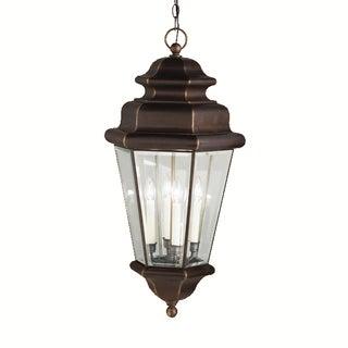 Kichler Lighting Savannah Estates Collection 4-light Olde Bronze Outdoor Pendant