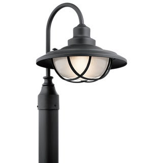 Kichler Lighting Harvest Ridge Collection 1-light Textured Black Outdoor Post Mount