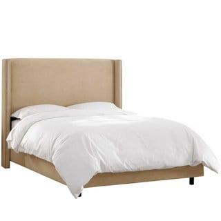 Skyline Furniture Micro-suede Custom Wingback Bed