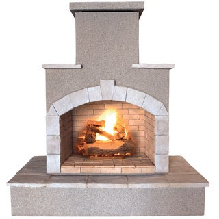 78-inch Propane Gas Outdoor Fireplace