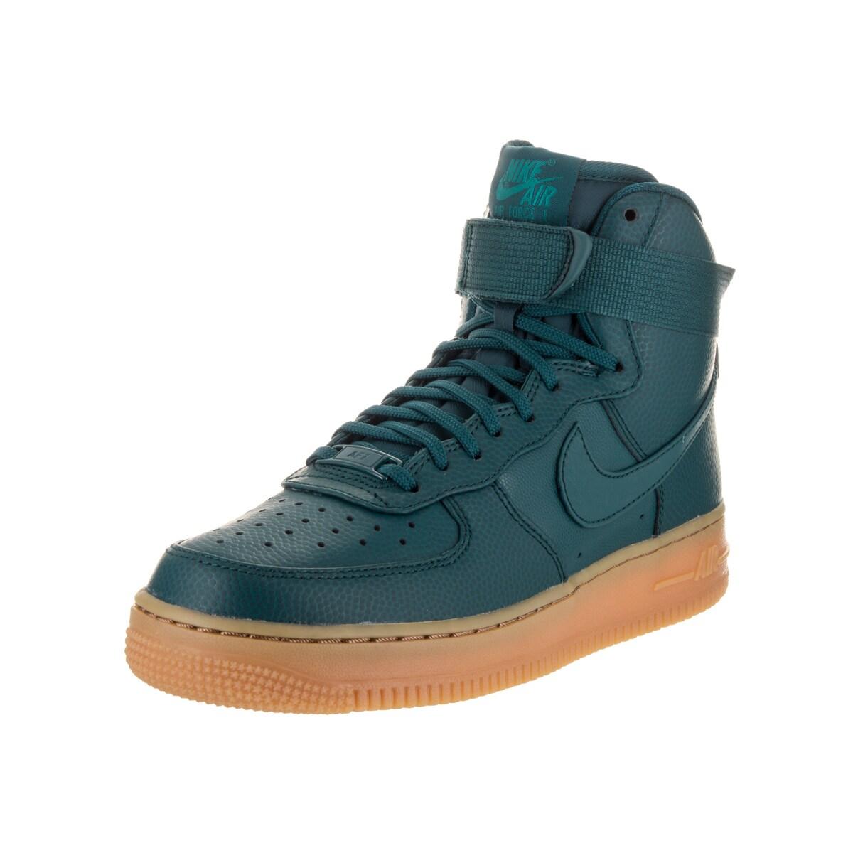 Nike Women's Air Force 1 Hi SE Blue Leather Basketball Sh...