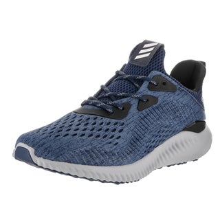 Adidas Women\u0027s Alphabounce EM Blue Synthetic Leather Running Shoes