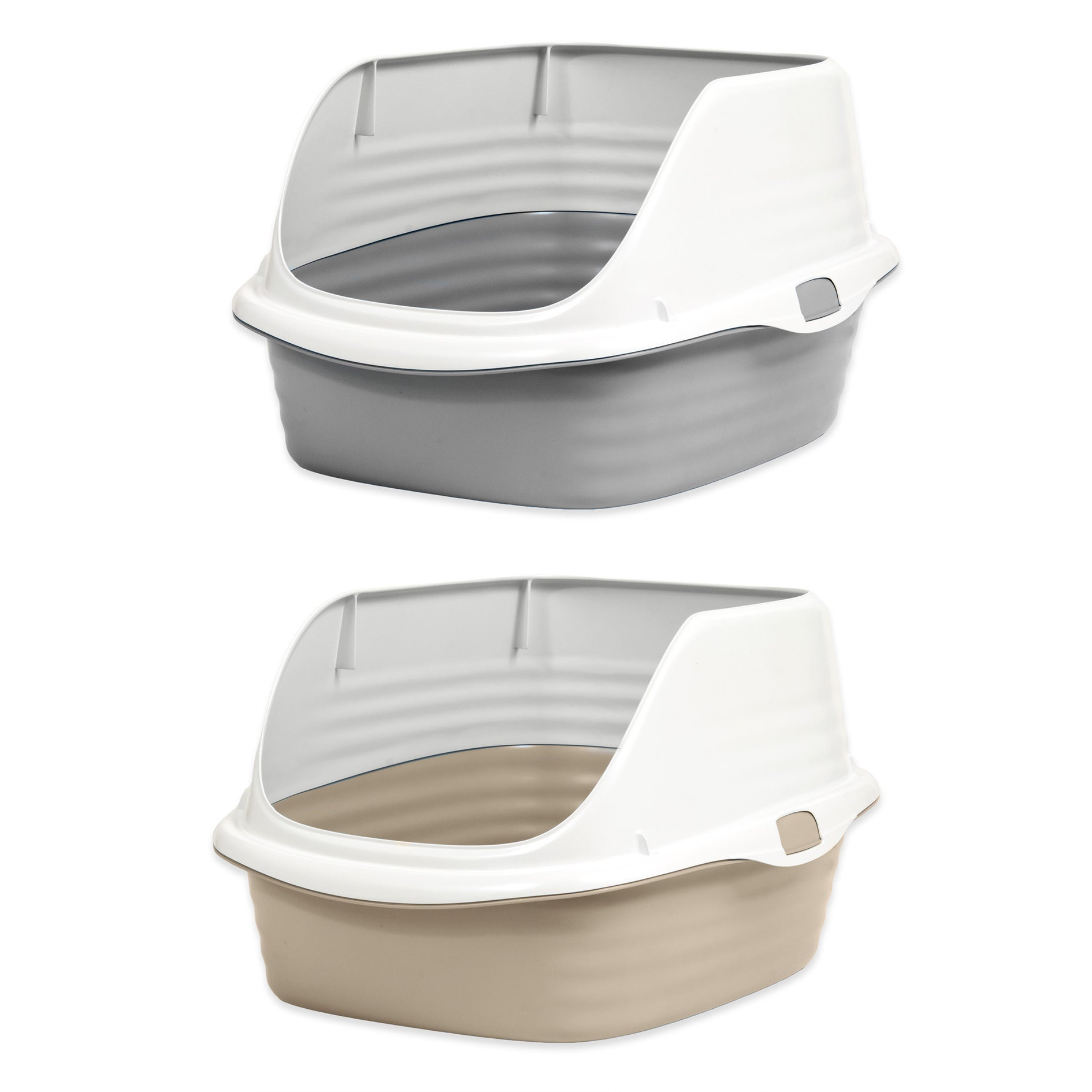 Petmate Stay Fresh Rimmed Litter Box (Large-Assorted Colo...
