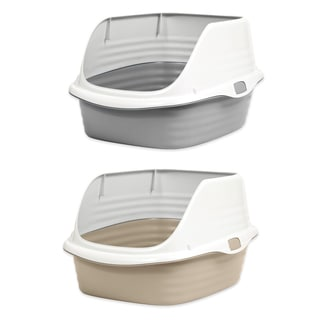 Petmate Stay Fresh Rimmed Litter Box