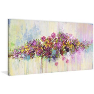 Marmont Hill - 'Butterfly Dream' by Julie Joy Painting Print on Wrapped Canvas - Purple
