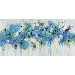 Marmont Hill - 'Center Piece I-3' by Julie Joy Painting Print on Wrapped Canvas