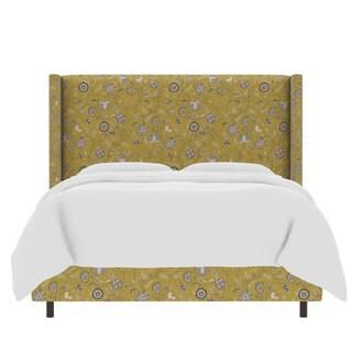 Skyline Furniture Printed Custom Wingback Bed