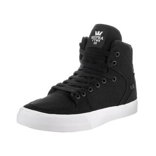 Supra Men's Vaider D Black Canvas Skate Shoes