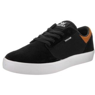 Supra Men's Yorek Black Suede Low Skate Shoes
