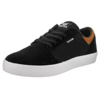 Supra Men's Yorek Black Suede Low Skate Shoes|https://ak1.ostkcdn.com/images/products/13934379/P20565690.jpg?impolicy=medium