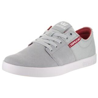 Supra Men's Stacks II Grey Suede Skate Shoe