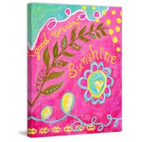Marmont Hill - 'Morning Sunshine' by Jill Lambert Painting Print on Wrapped Canvas - Pink