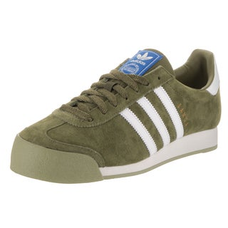 Adidas Men's Samoa Green Suede Vintage-style Casual Shoe