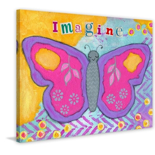 Marmont Hill - 'Imagine Butterfly' by Jill Lambert Painting Print on Wrapped Canvas